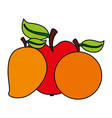 fruits food health vector image vector image
