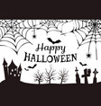 happy halloween colorless vector image vector image