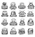 hunting sport ammo hunter animals trophy icons vector image vector image