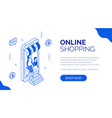 isometric online shopping 4 vector image vector image