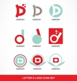 Letter D icon logo set vector image vector image