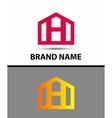 Letter H logo real estate symbol vector image vector image