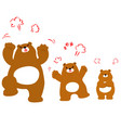 mad bear family cartoon character vector image