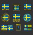 made in sweden icon set in kingdom sweden vector image vector image