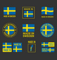 made in sweden icon set made in kingdom sweden vector image