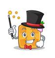 magician waffle character cartoon design vector image vector image