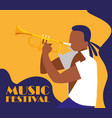 man playing trumpet instrument vector image