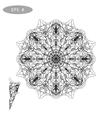 Mandala Coloring vector image vector image