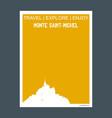 monte saint- michel france monument landmark vector image