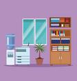 office interior scenery vector image vector image