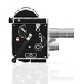 old retro vintage movie video camera 01 vector image vector image
