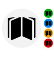 open book open booklet icon open book symbol on vector image