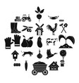 pantry icons set simple style vector image vector image
