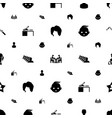 person icons pattern seamless white background vector image vector image