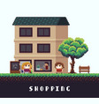 pixel shopping vector image vector image