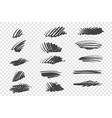 random black scrawls set vector image vector image