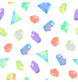 realistic detailed 3d color crystal stone seamless vector image