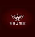 rustic eagle hawk rebel bird badge logo vector image