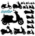 scooter motorcycles vector image vector image