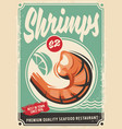 seafood restaurant poster design vector image vector image