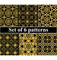 Seamless golden pattern set vector image vector image