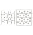 set template puzzle pieces vector image