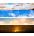 Sky banners vector image vector image