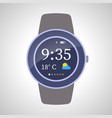 smart watches device on white background vector image