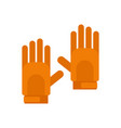 sport gloves icon flat style vector image vector image