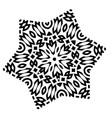 stylized star mandala vector image vector image