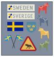 swedish items vector image