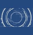 technological future interface hud technical vector image vector image