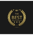 The Best award label vector image vector image