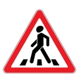 Traffic sign on white background vector image vector image