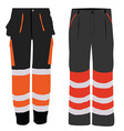 Two worker pants vector image