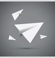 white paper airplane vector image vector image