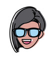 woman with sunglasses vector image