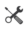 wrench and screwdriver technical repair service lo vector image