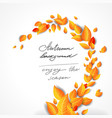 yellow bright leaves background vector image vector image