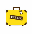 yellow travel bag vector image vector image