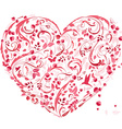 lovely floral heart for your design vector image