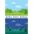 Summer Forest Seamless Landscapes vector image