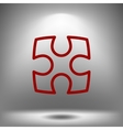 Part of paper puzzles flat icon vector image