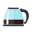 coffee or tea pot isolated on white background vector image