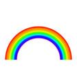rainbow on white background light spectrum vector image