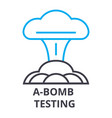 a bomb testing thin line icon sign symbol vector image