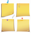 Adhesive memory Notes set vector image vector image