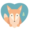 Animal set Portrait of a fox in love Flat vector image