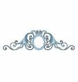 baroque decoration vector image vector image