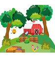 beautiful farm cartoons vector image